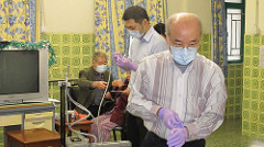 Our three dentists help the elderly